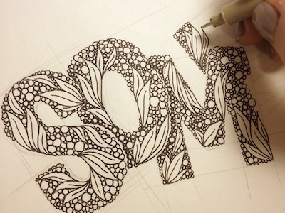 ANNA ROPALO HAND DRAWN LETTERS