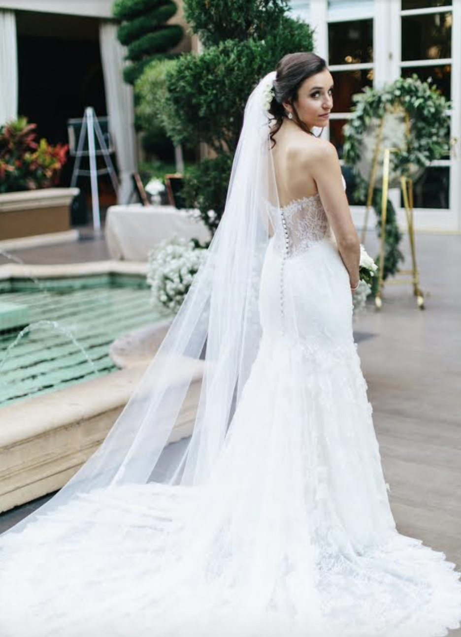 Real bride: Jaclyn - Strapless French Lace Mermaid Dress (A custom design by Jaclyn)