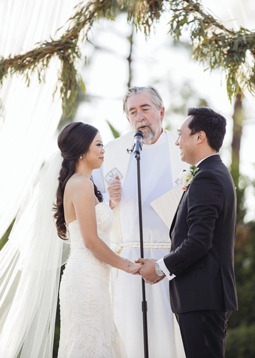 Real Bride: Courtney - Vietnamese bride. (Dress: Divina)