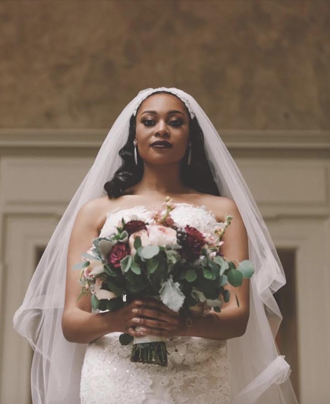 Real Bride: Maria ( Dress: Sara, beaded lace and mermaid style)