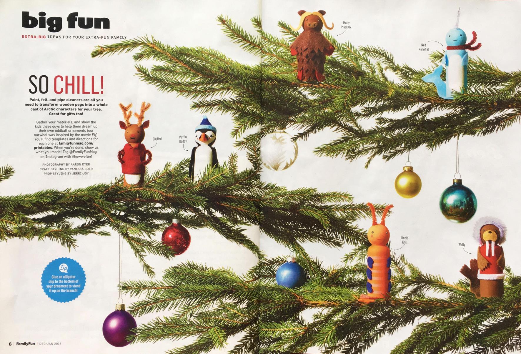 Peg Doll Ornaments // FamilyFun for Parents Magazine