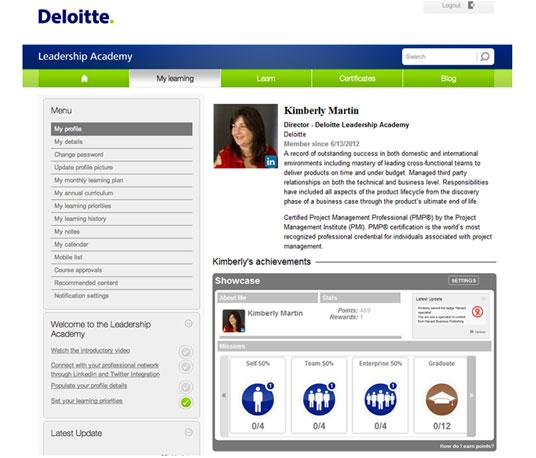 Профиль одного из сотрудников, принимающих участие в обучающей лидерской программе Deloitte