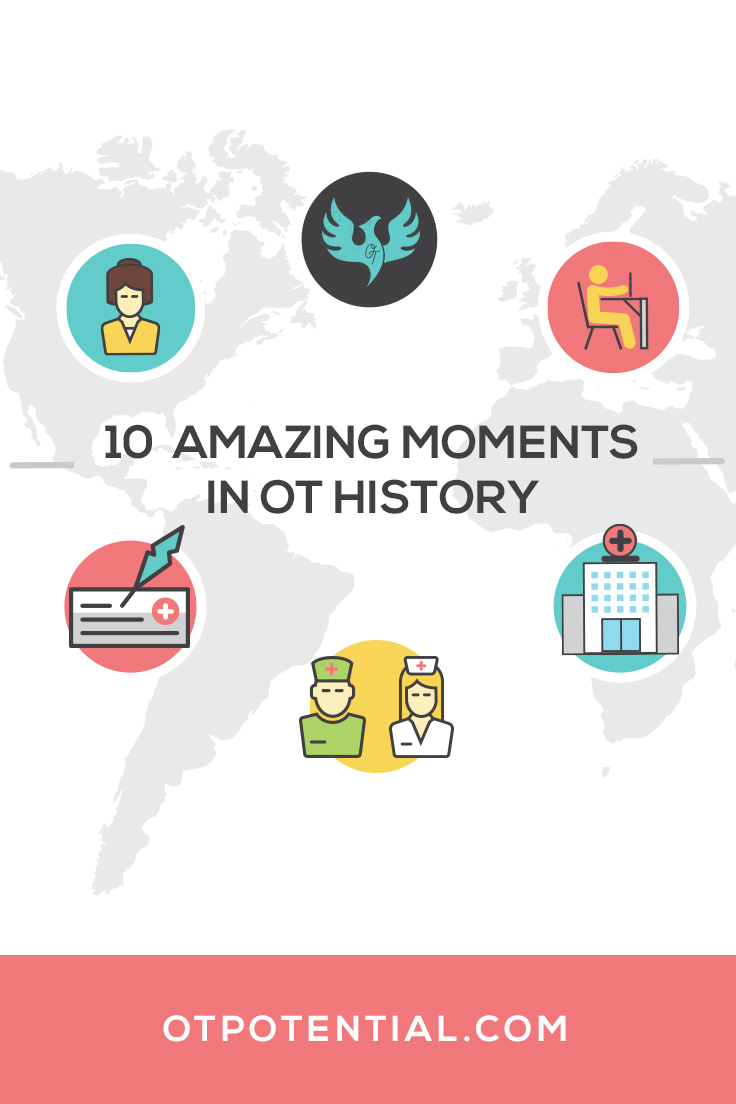 From the founding of an OT national association to Sigourney Weaver playing an OT in a movie, here are 10 highlights from the history of occupational therapy!