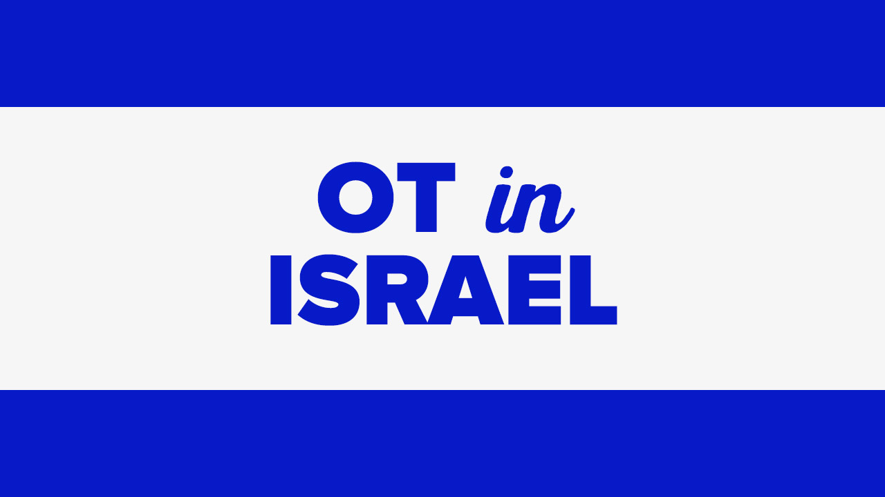 Occupational therapy in Israel.