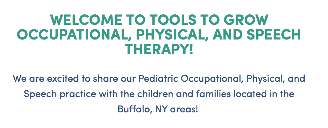 Tools to grow occupational, physical, and speech therapy.