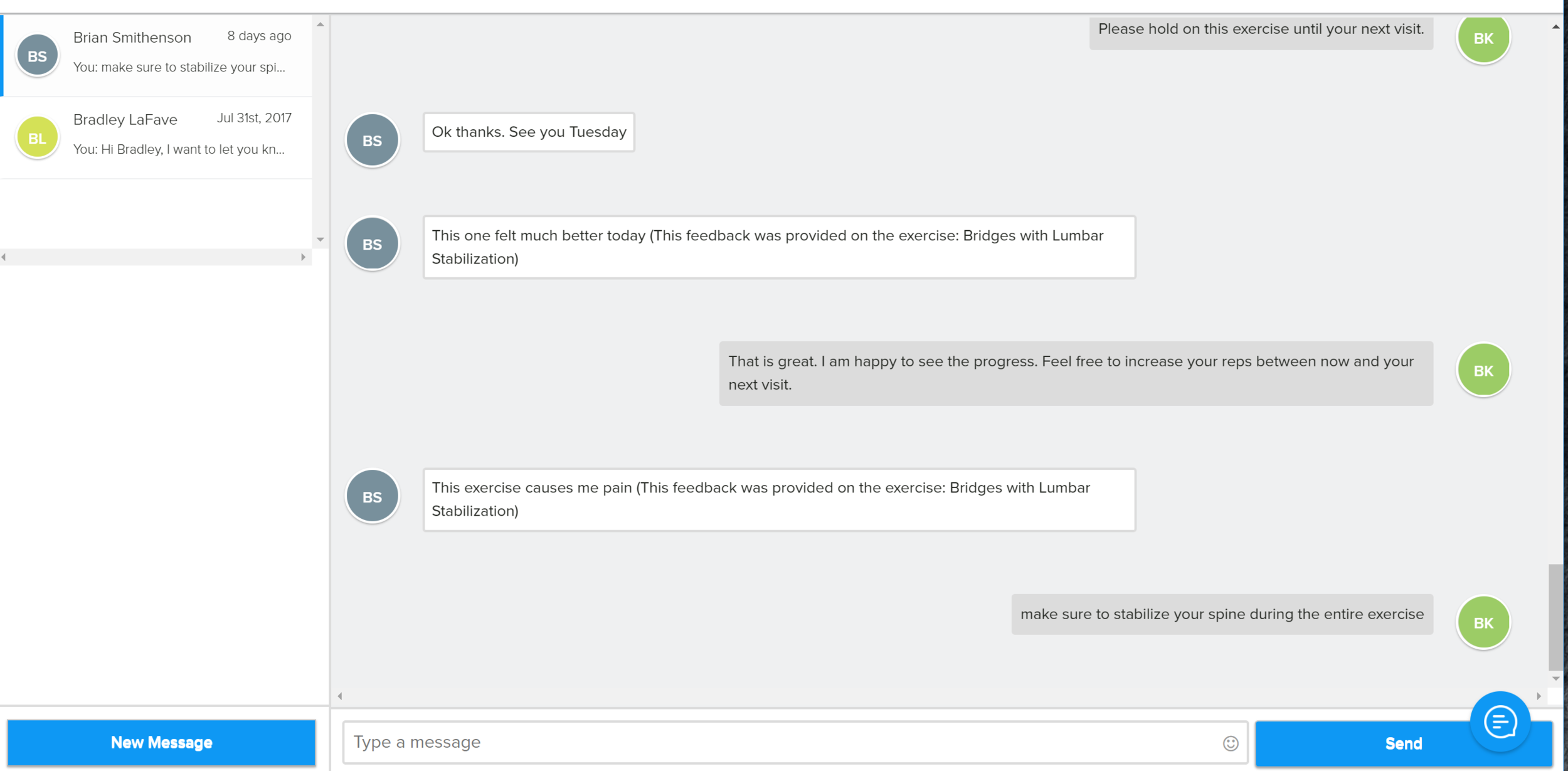 Yes! Telehealth can be this simple! This is an example of secure messaging about an HEP program from WebPT's platform.