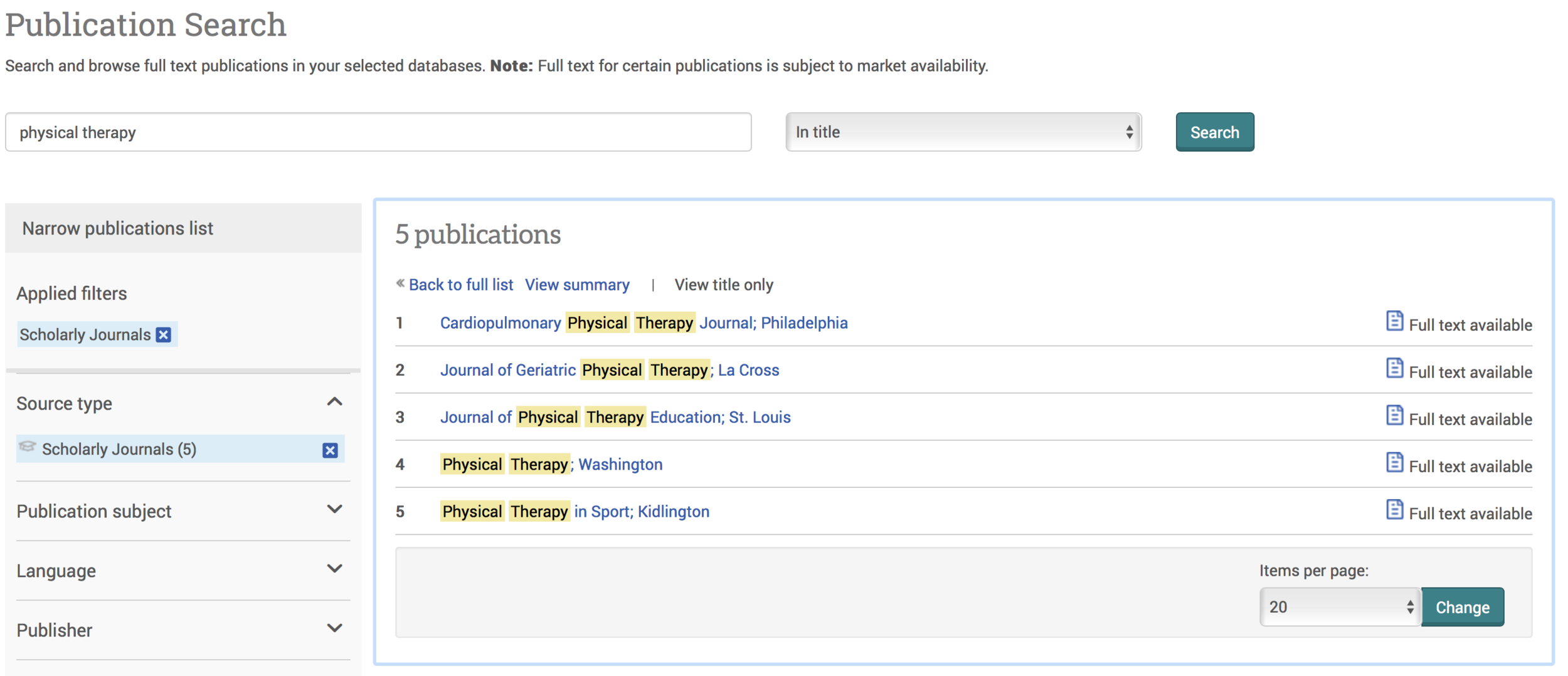Example research on ProQuest.