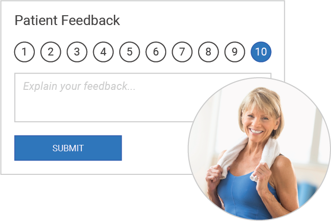 With MedBridge Enterprise you can collect people's NPS score!