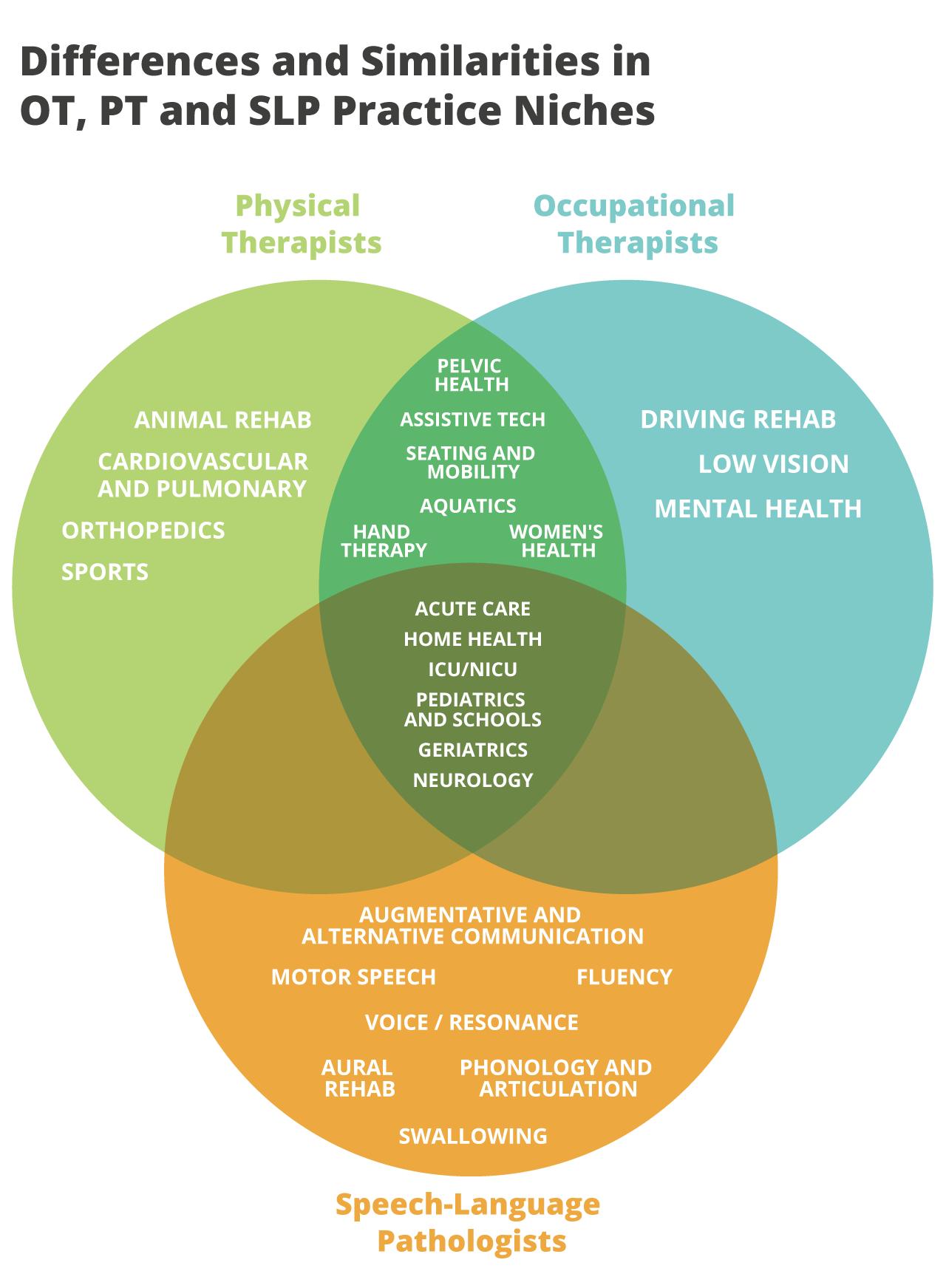 OT vs  PT vs  SLP: Differences and Similarities — OT Potential
