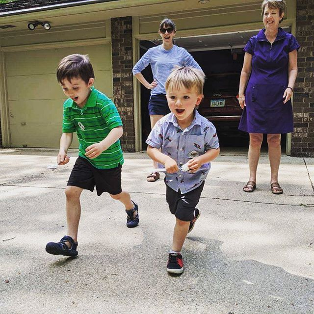Relay races were a hit at Walter's 3rd birthday party!!
