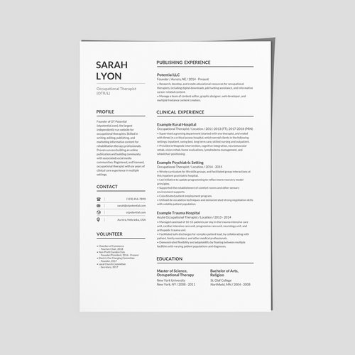 How To Make Your Ot Resume Stand Out Ot Potential