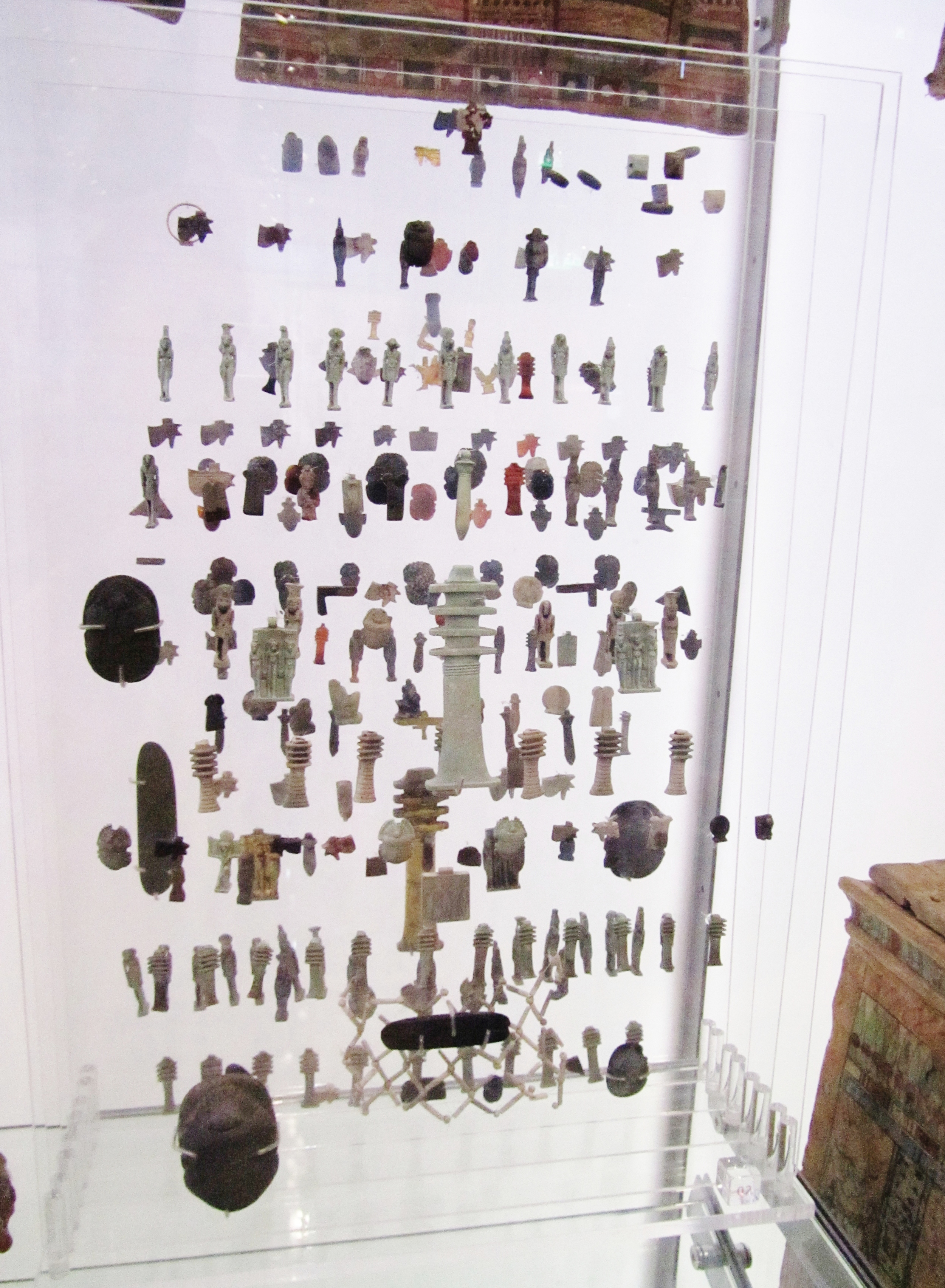 Amulet display showing layers of protection