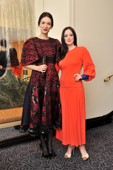 Roksanda Illincic and Andrea Risebourough (who presented her with the award) both wearing her designs