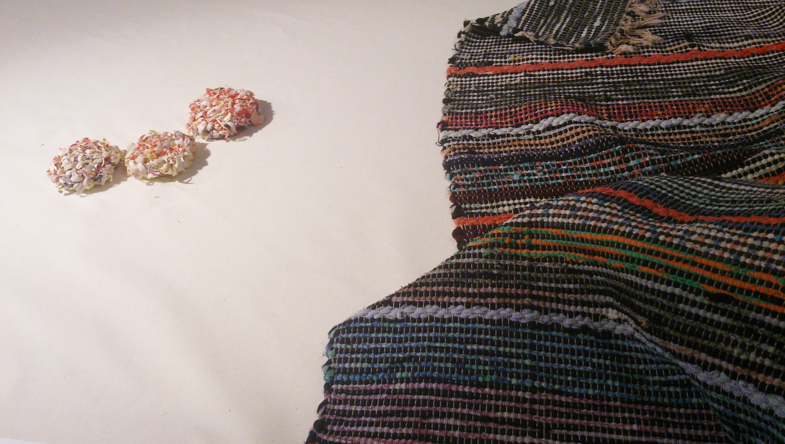 Lina Peterson's inspiration: Swedish rag-rug texture with her Shavings Brooches