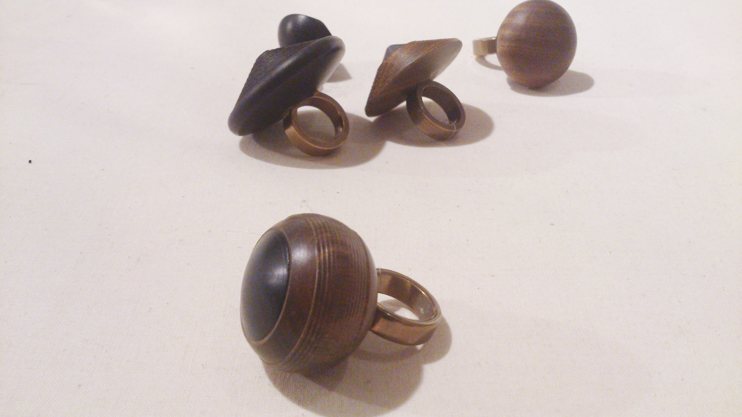 Turned Wooden Rings  Simone Brewster