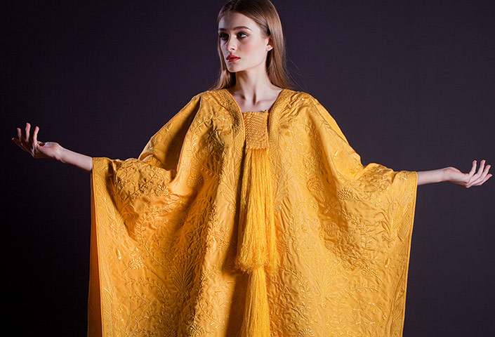 Golden spider silk cape