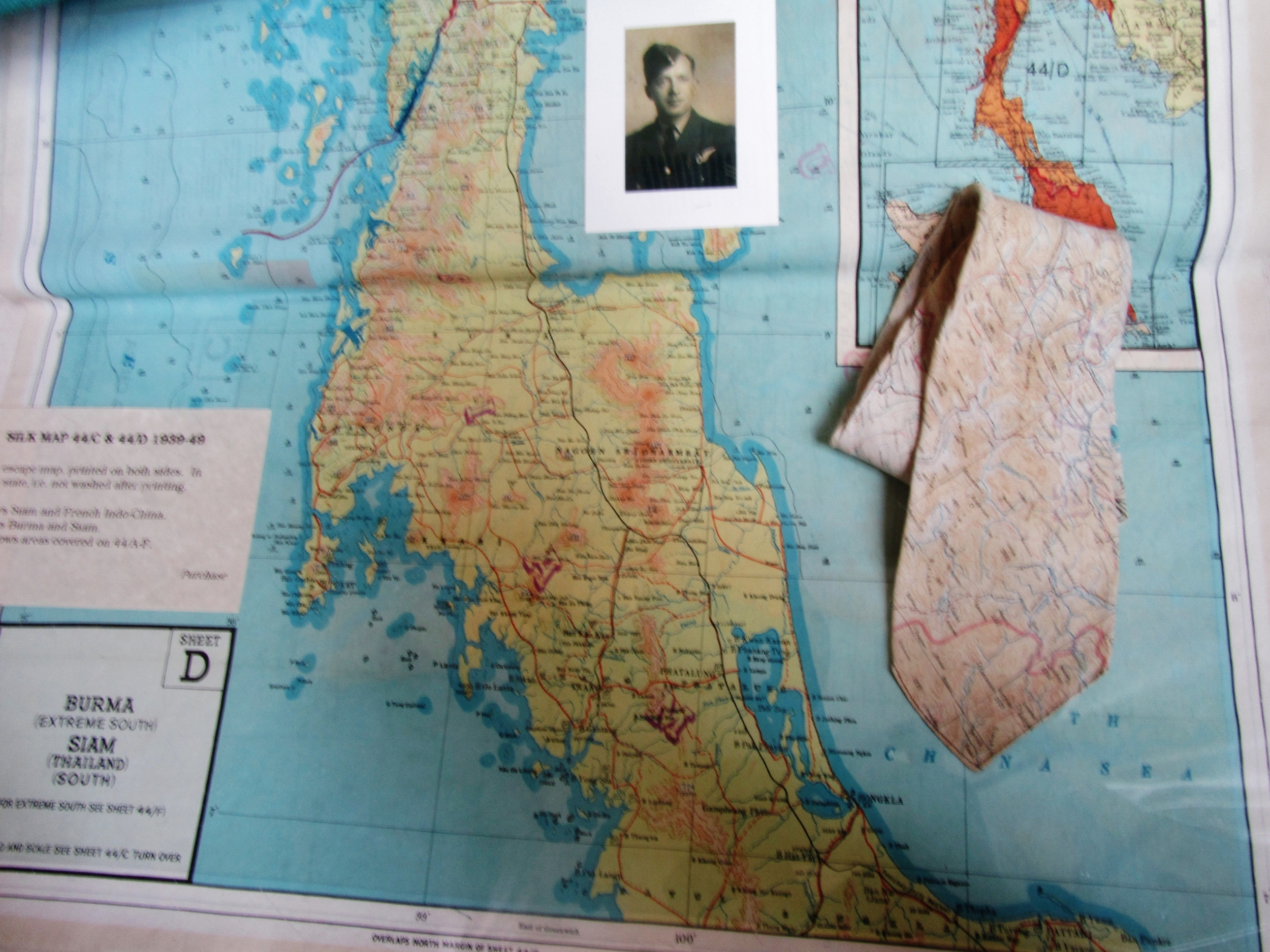 Silk Map and tie! In the museum.