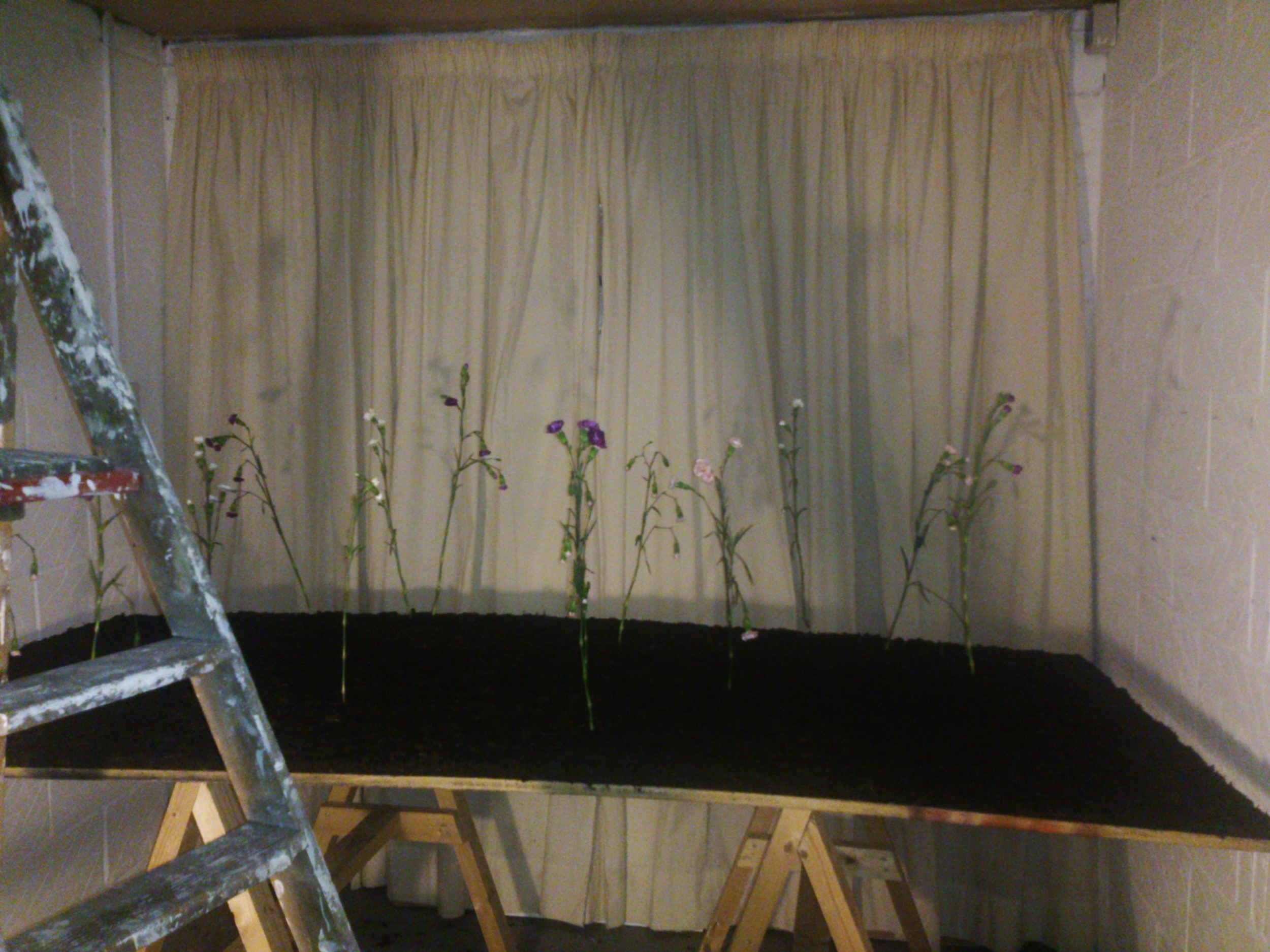 Studio space of artist in residence Mair Cook
