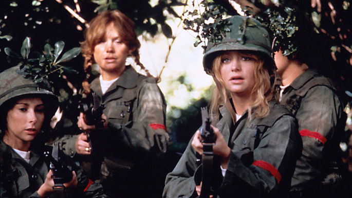A red bra and a good idea helped the gang win in Private Benjamin   See, great underwear CAN help you achieve great things (even if it just helps you feel more confident underneath it all).