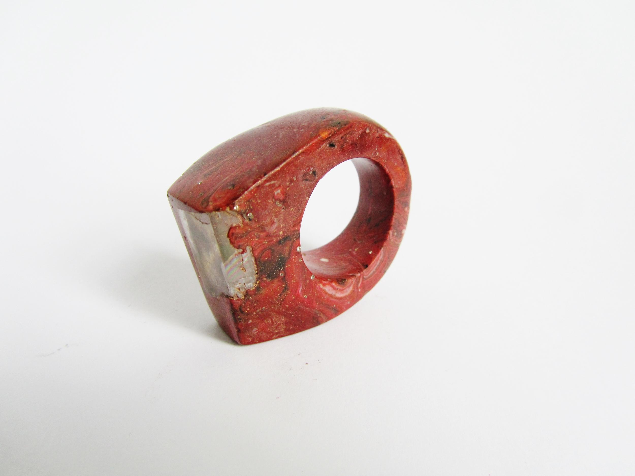jade mellor bespoke red ring iceland spar.JPG