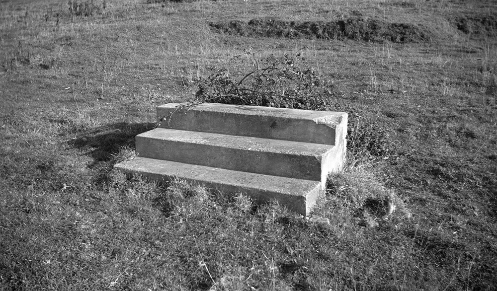 Paul Nash, Steps in a field  near Swanage 1935