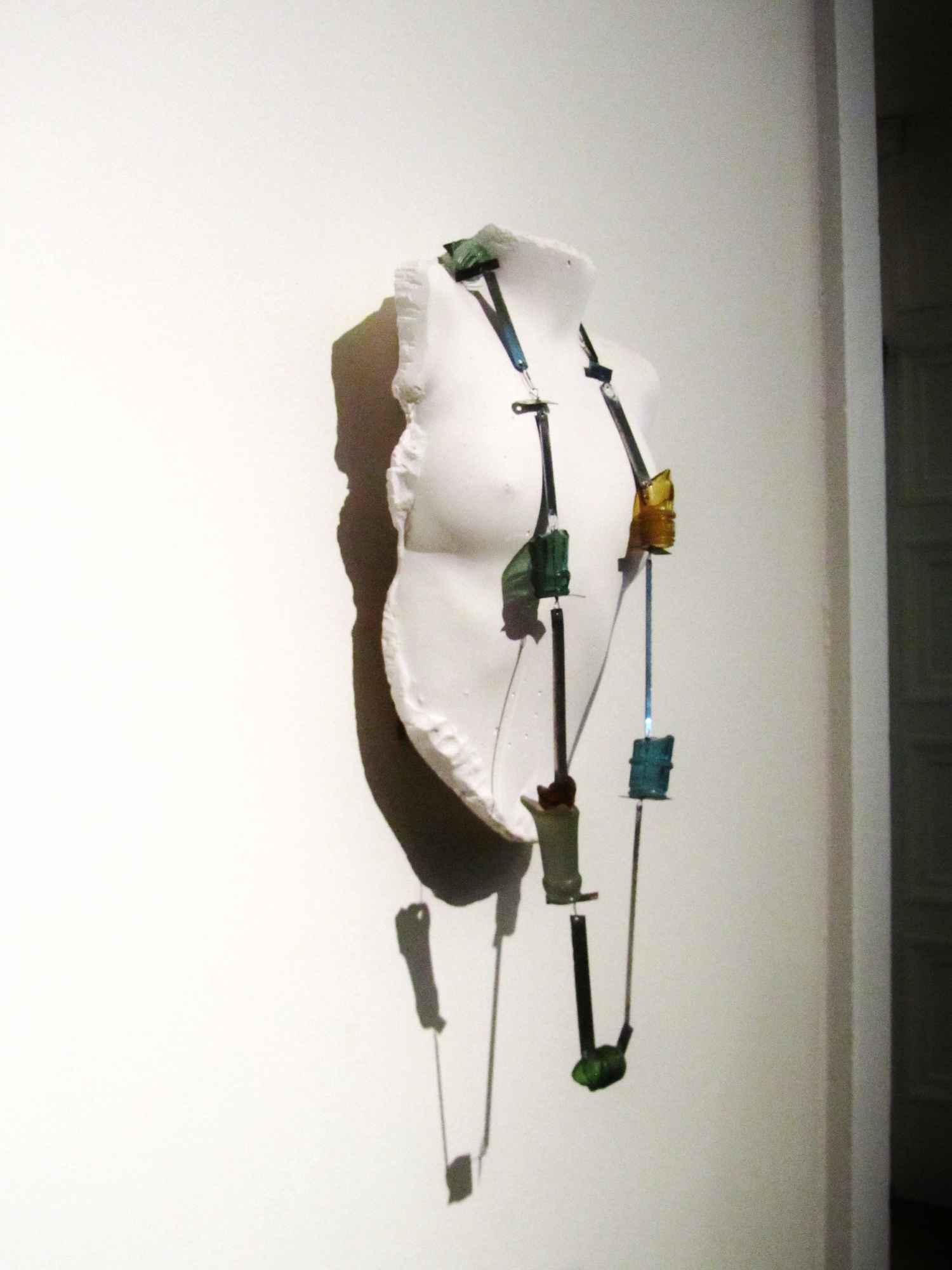 Bottle-Neck, Saw, Chain 2014 Glass, Saw blades, Stainless Steel. Broken bottles featured in a similar Schobinger piece I was struck by when I first started studying jewellery.