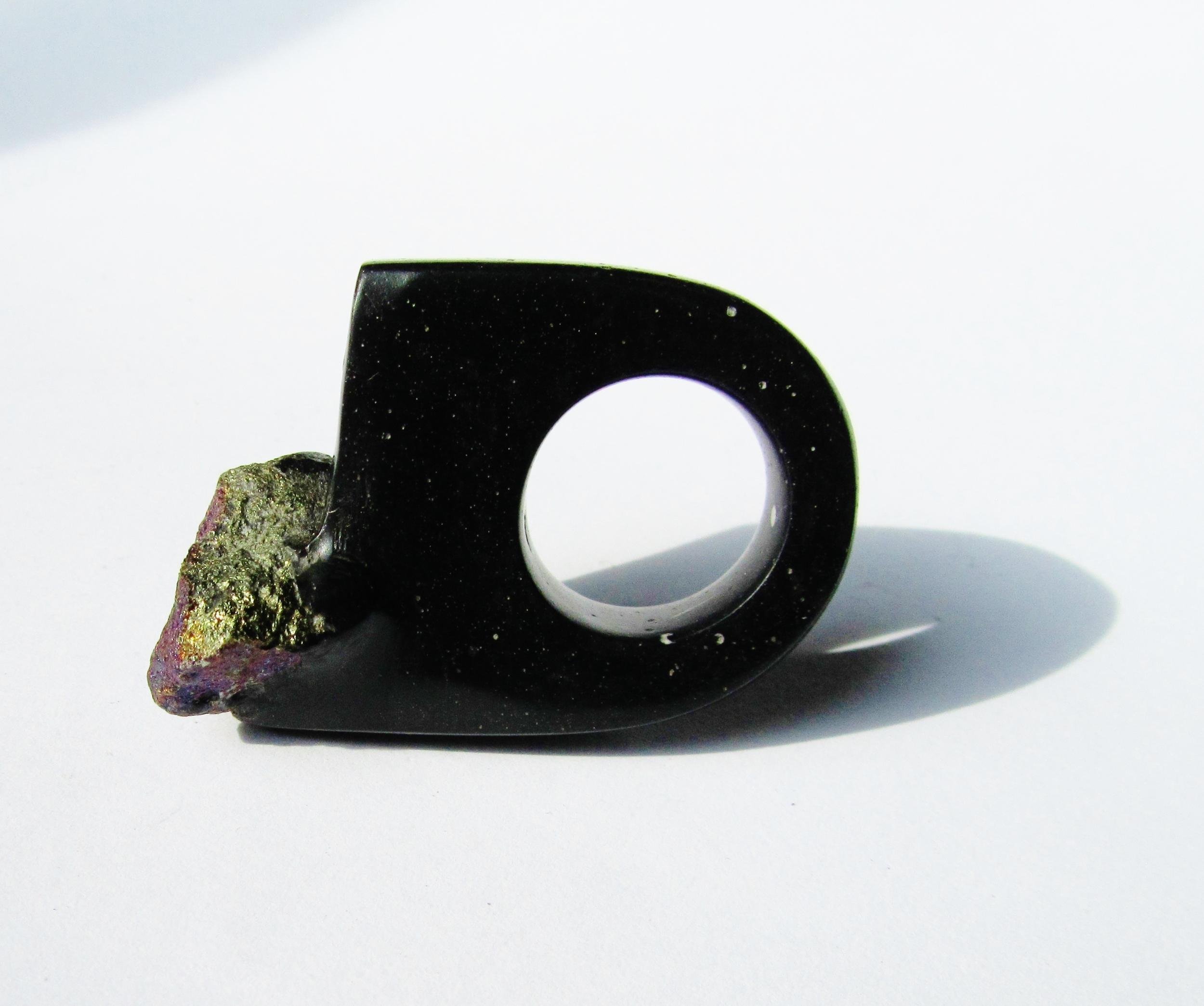 jade mellor hewn ring peacock ore black ring.JPG