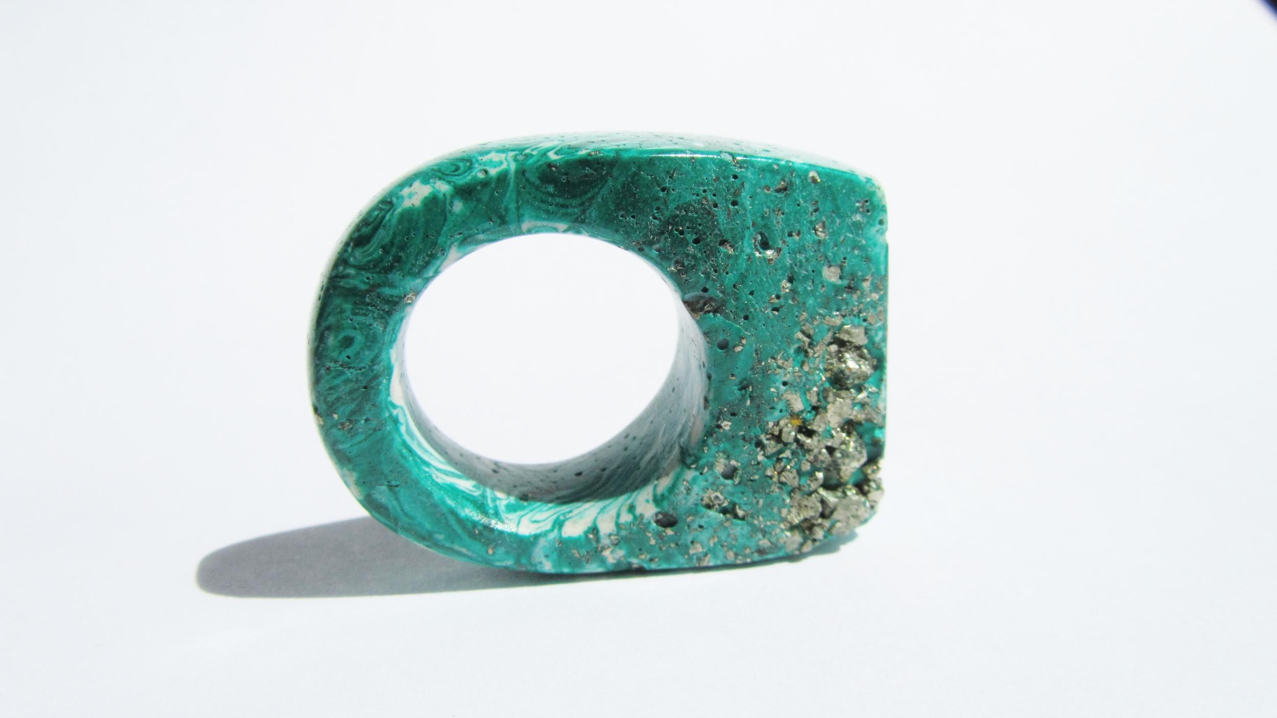 jade mellor hewn ring malachite pyrite N-O  3.JPG