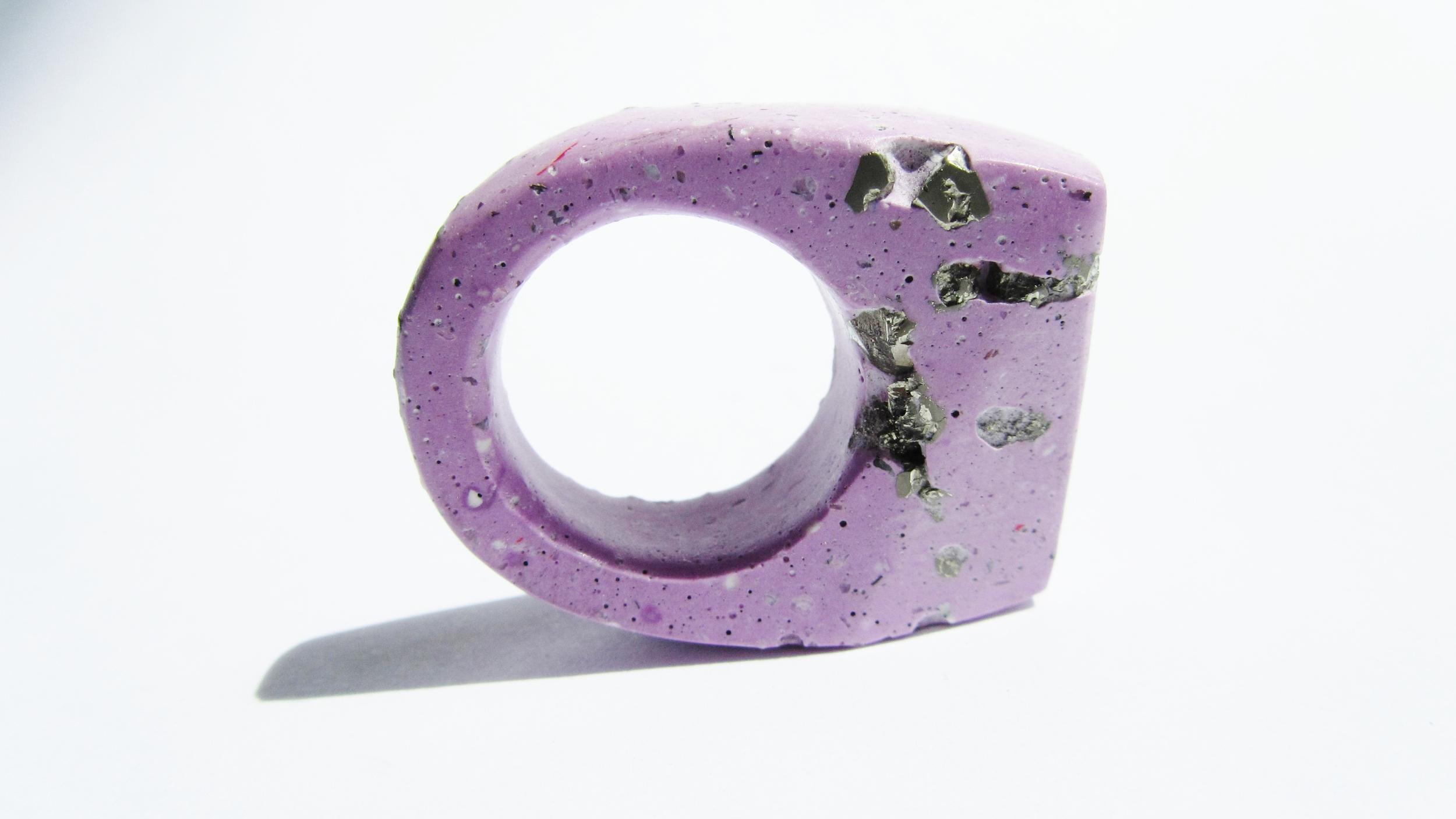 jade mellor hewn ring pale purple pyrite Q-R 3.JPG