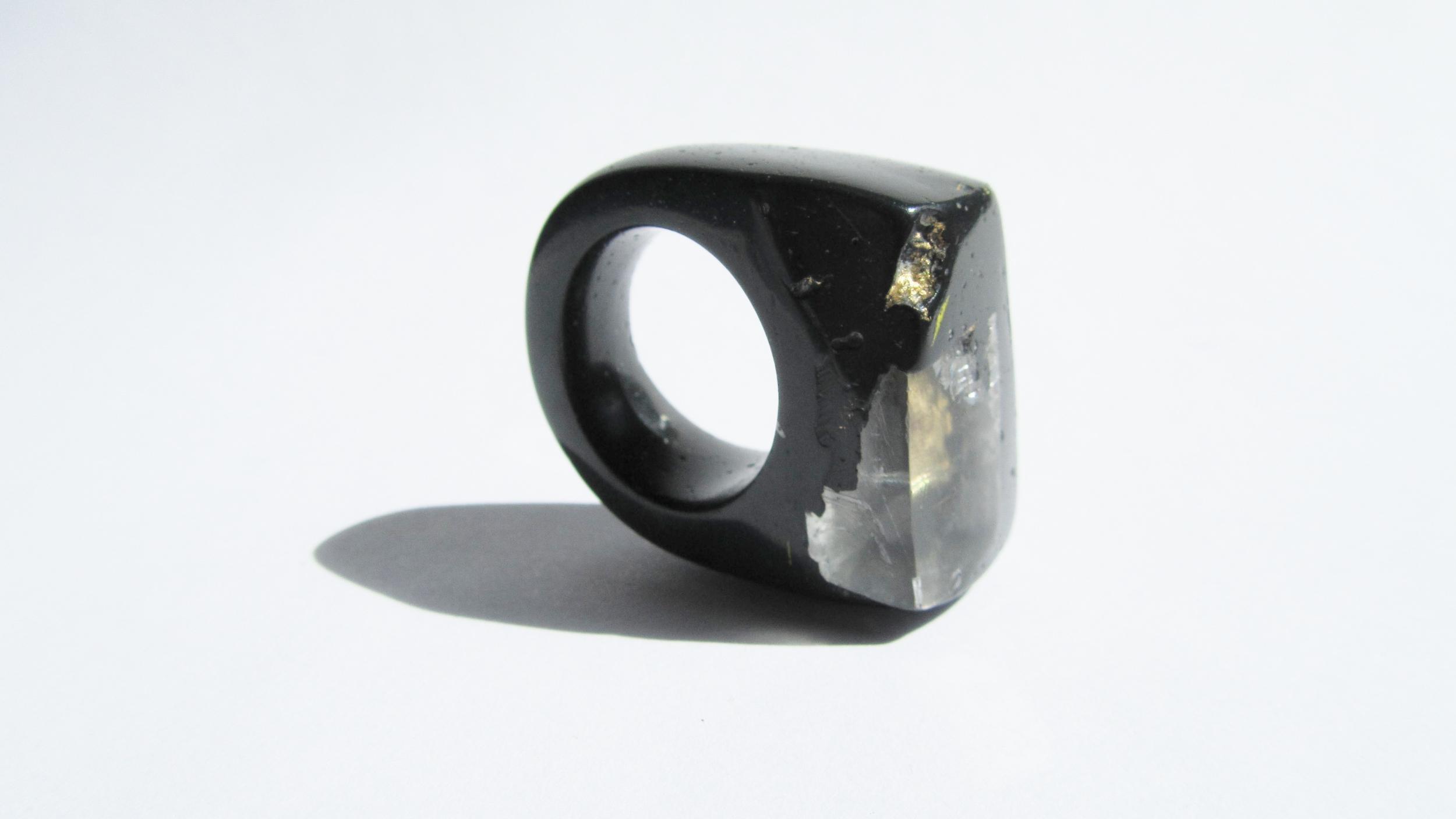 jade mellor hewn ring black icelandic spar gold metallic O-P 5.JPG