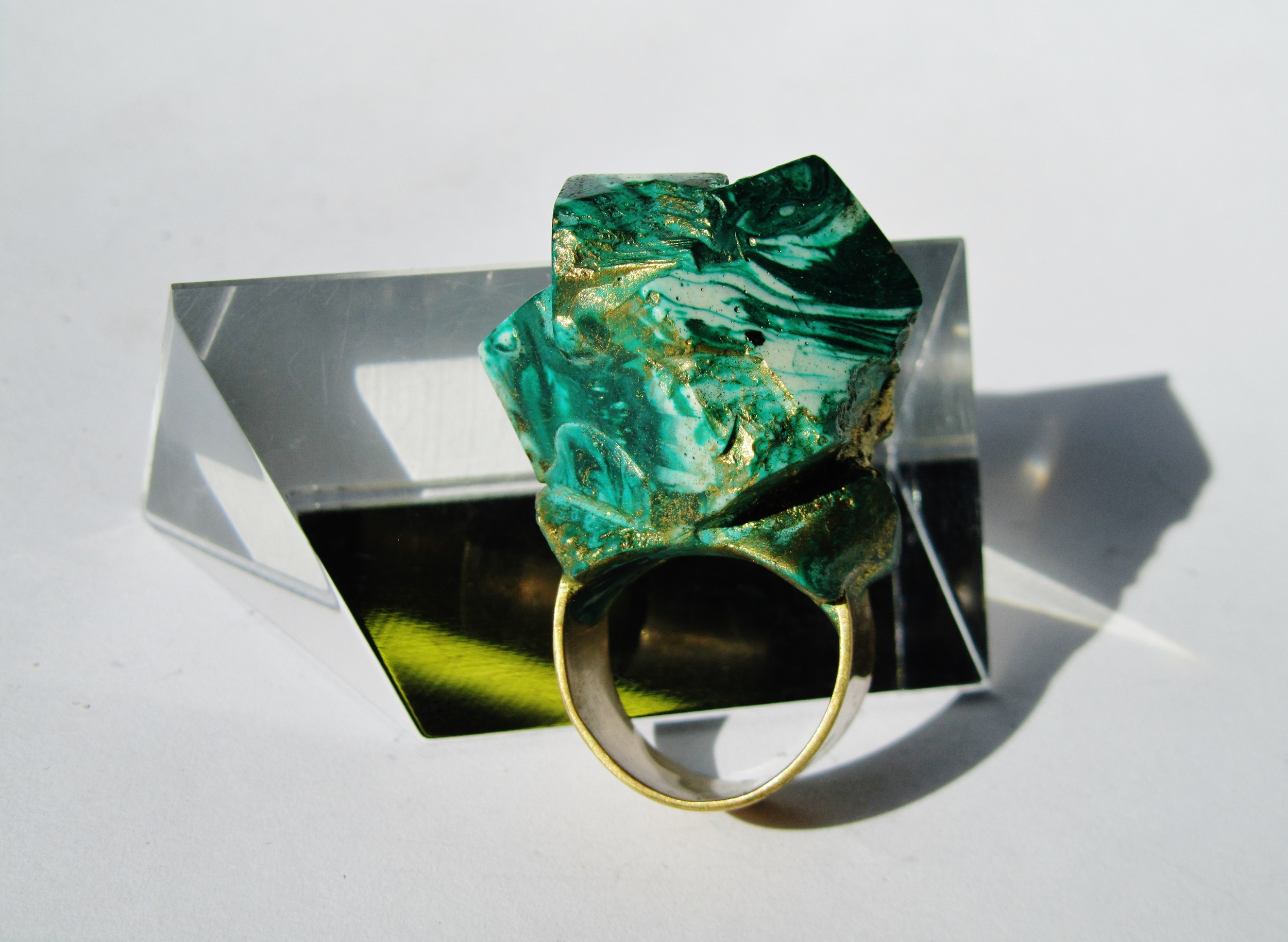 jade mellor greem malachite cubed ring statement green.JPG