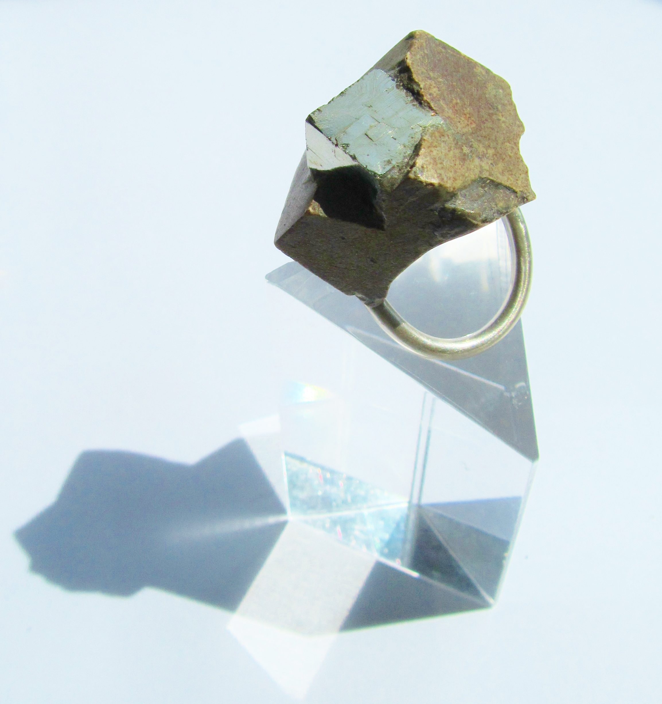 jade mellor jewellery gold pyrite ring silver cubed.JPG