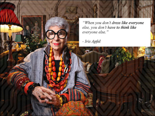 "Iris Apfel The ""Rare Bird of Fashion""."