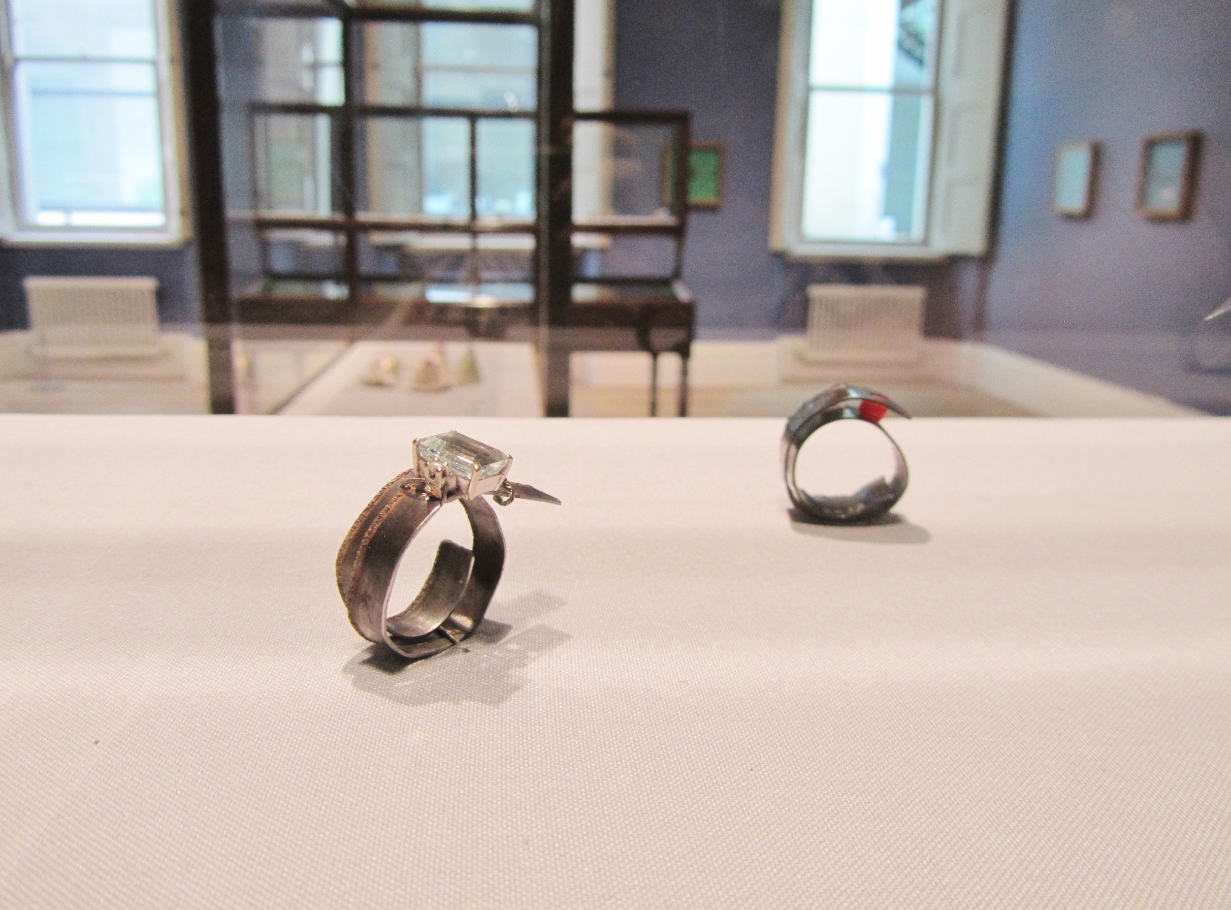 Bernhard Schobinger rings in Manchester Art Gallery