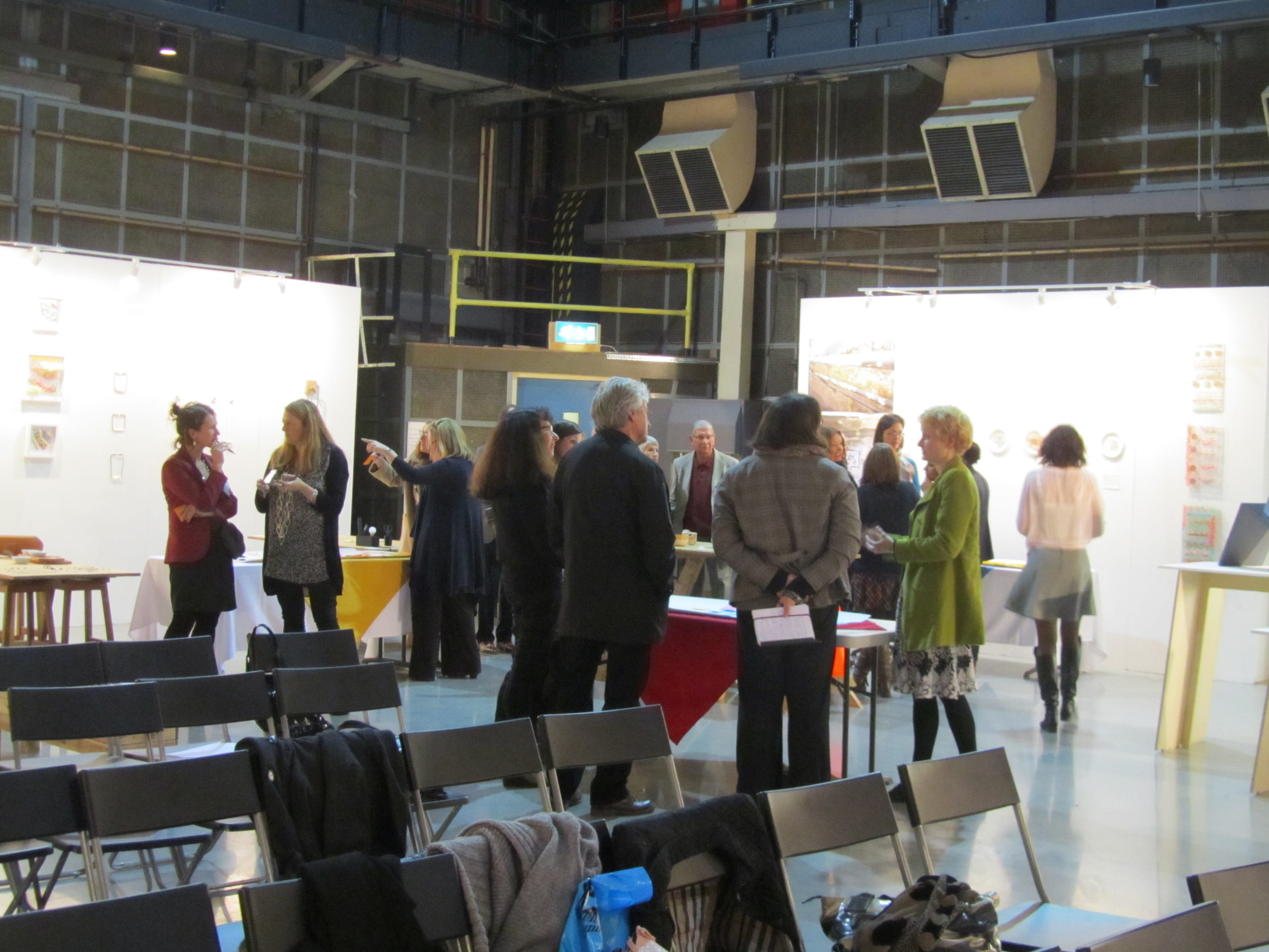 """Lively discussions and workshops with the curators, collectors and craft practitioners. Thefantastic variety ofguests at the symposium,""""Building the Market for Contemporary Craft in the North West""""."""