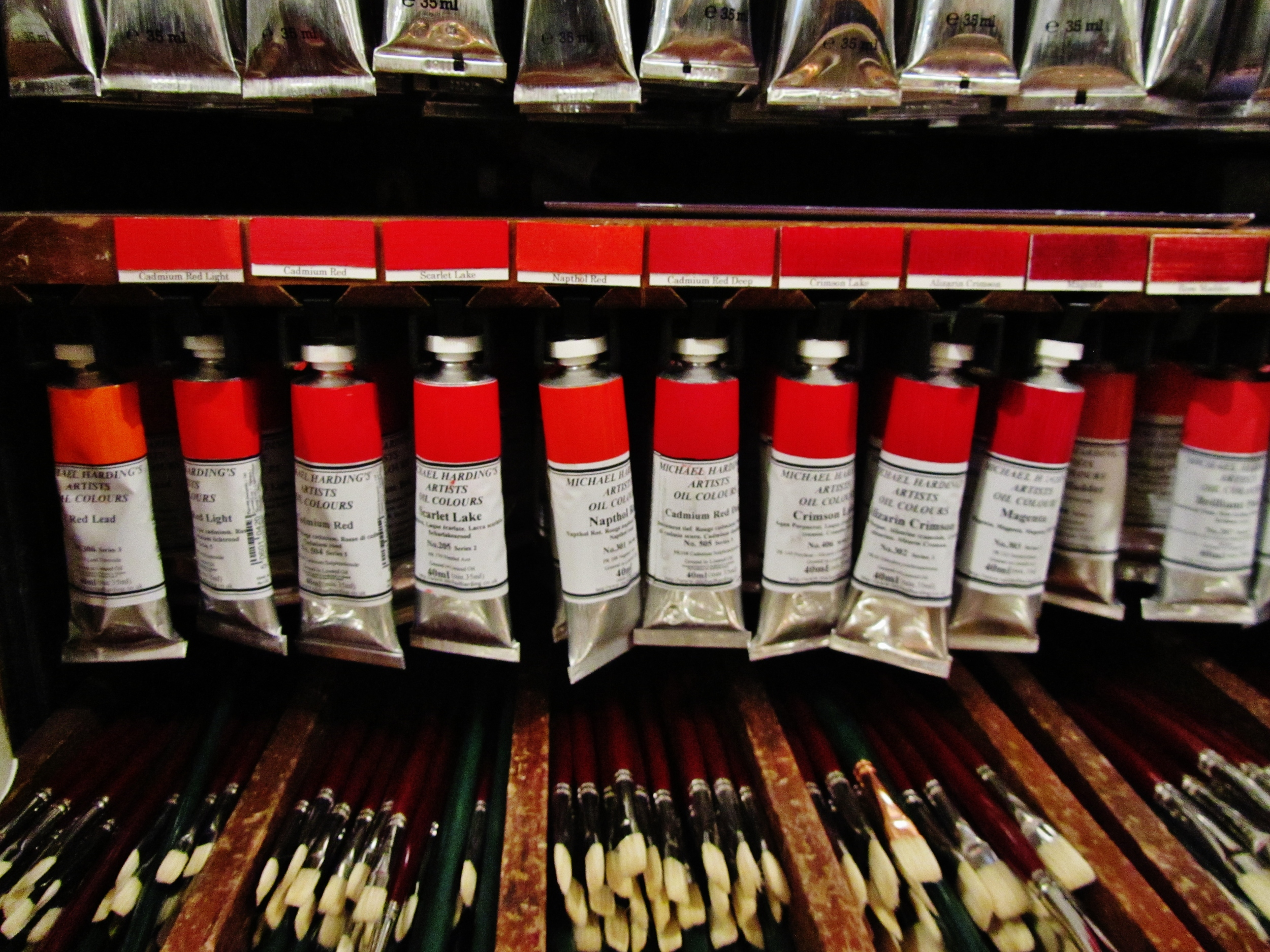 """Some vibranthues available in one of my favourite places to shop for art supplies L.Cornelissen's & Son's  """"Artist's Colourmen""""."""