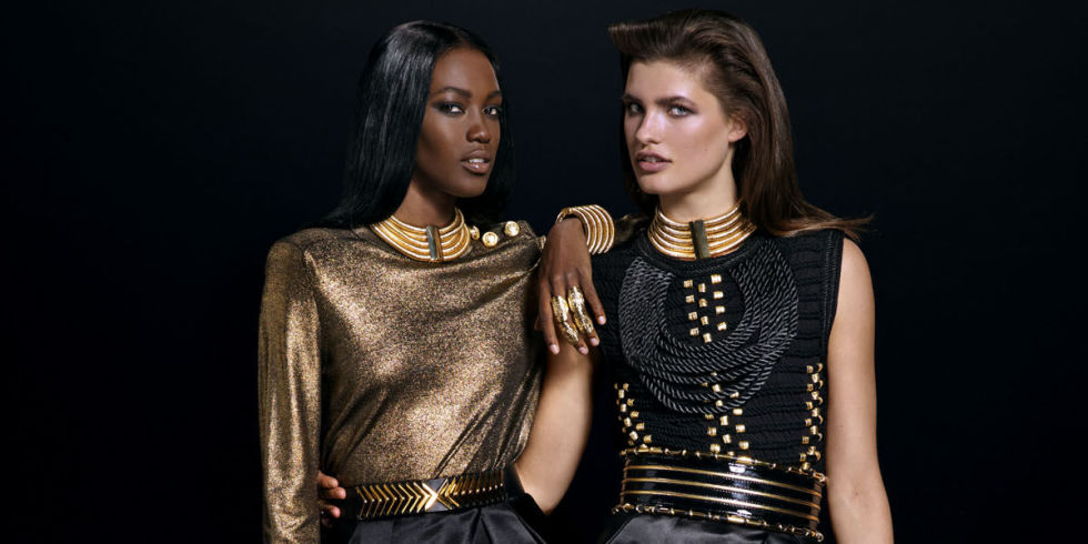 Balmain x H&M another hugely popular collaboration between couture and high street giants which hit stores in November