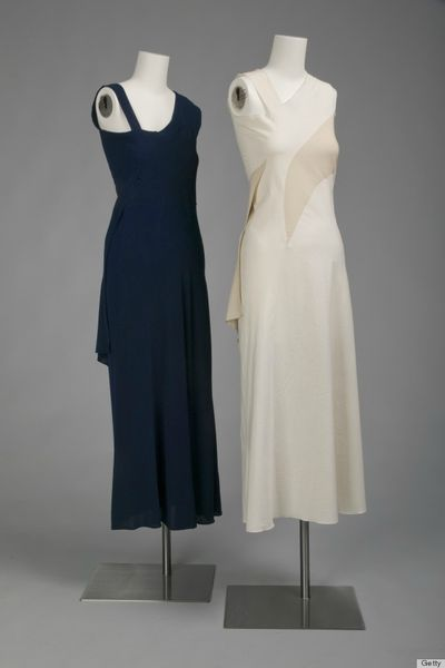 A Charles James design repeated in a later variation  . © Getty I  mages