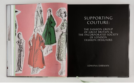 Pages showing Edwina's chapters in the book  London Couture