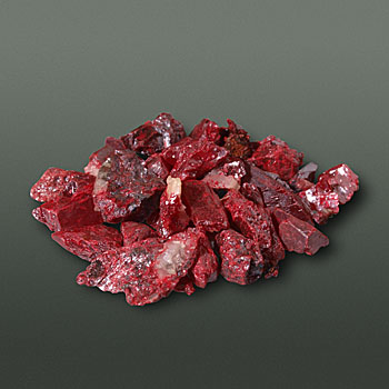 The mineral Cinnabar, used for making vivid red pigment