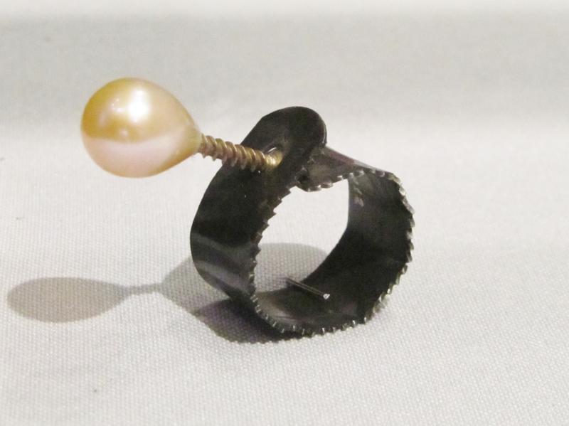 Ring 2012 steel, pearl