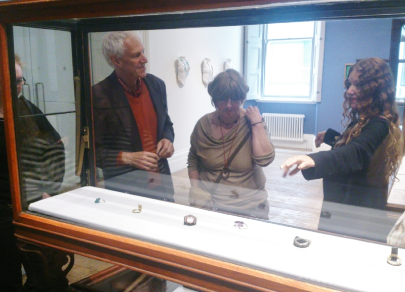 A little snap I took of Jo Bloxham explaining to us how Bernhard (left) created one of his pieces.
