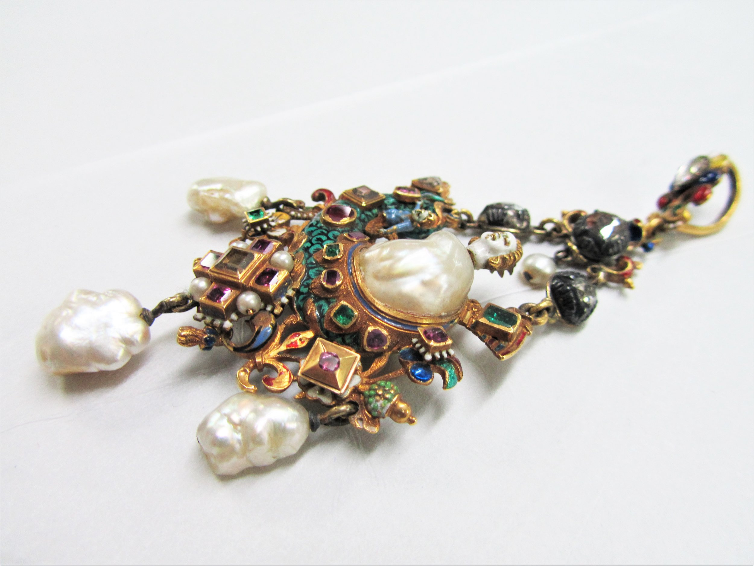19th Century pearl pendant