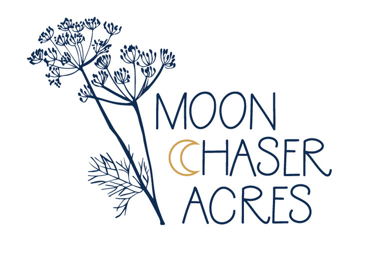 Color version of the final Moon Chaser Acres logo