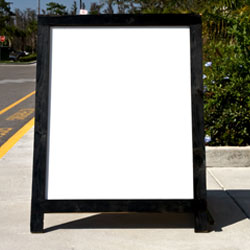 Standing Sign Board  $2,500