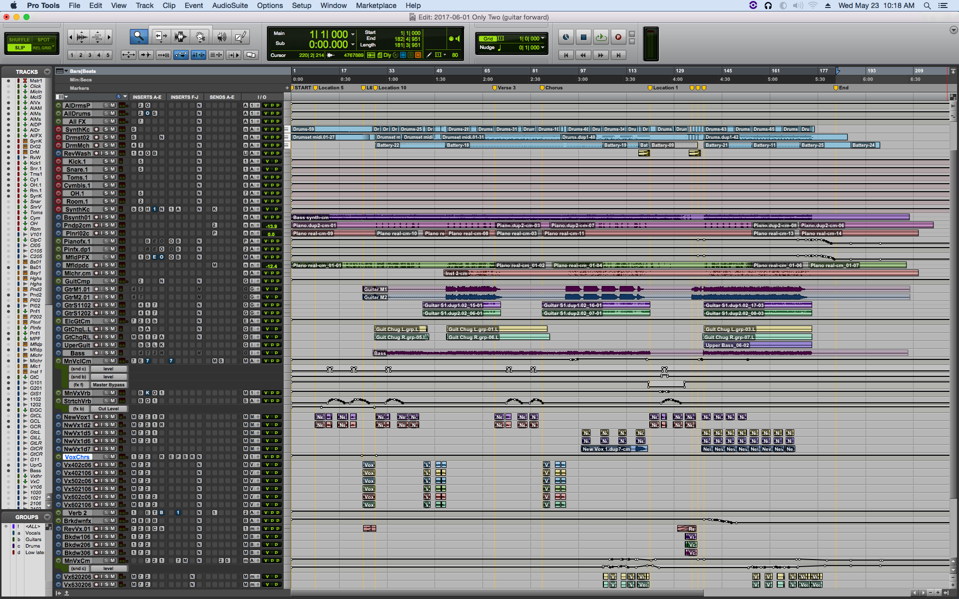 """Only Two"" finished Pro Tools project"