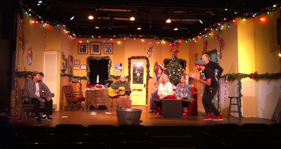 "Shredding as ""Carol"" in the long-running seasonal smash  Bob's Holiday Office Party."