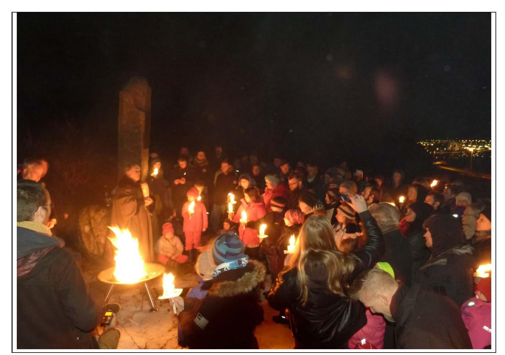Pagan celebration at Winter Solstice 2013
