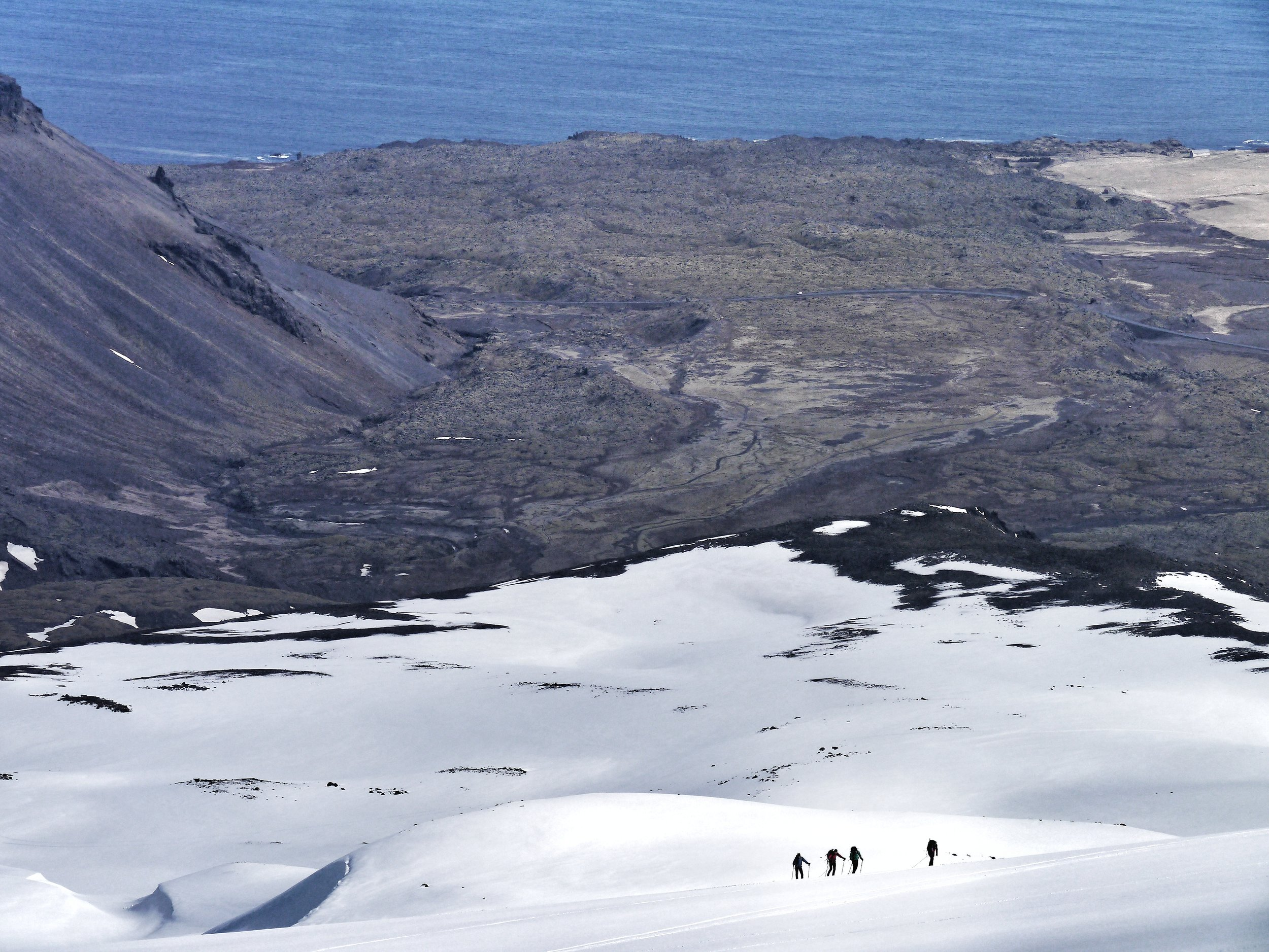 Hiking on snæfellsnes peninsula