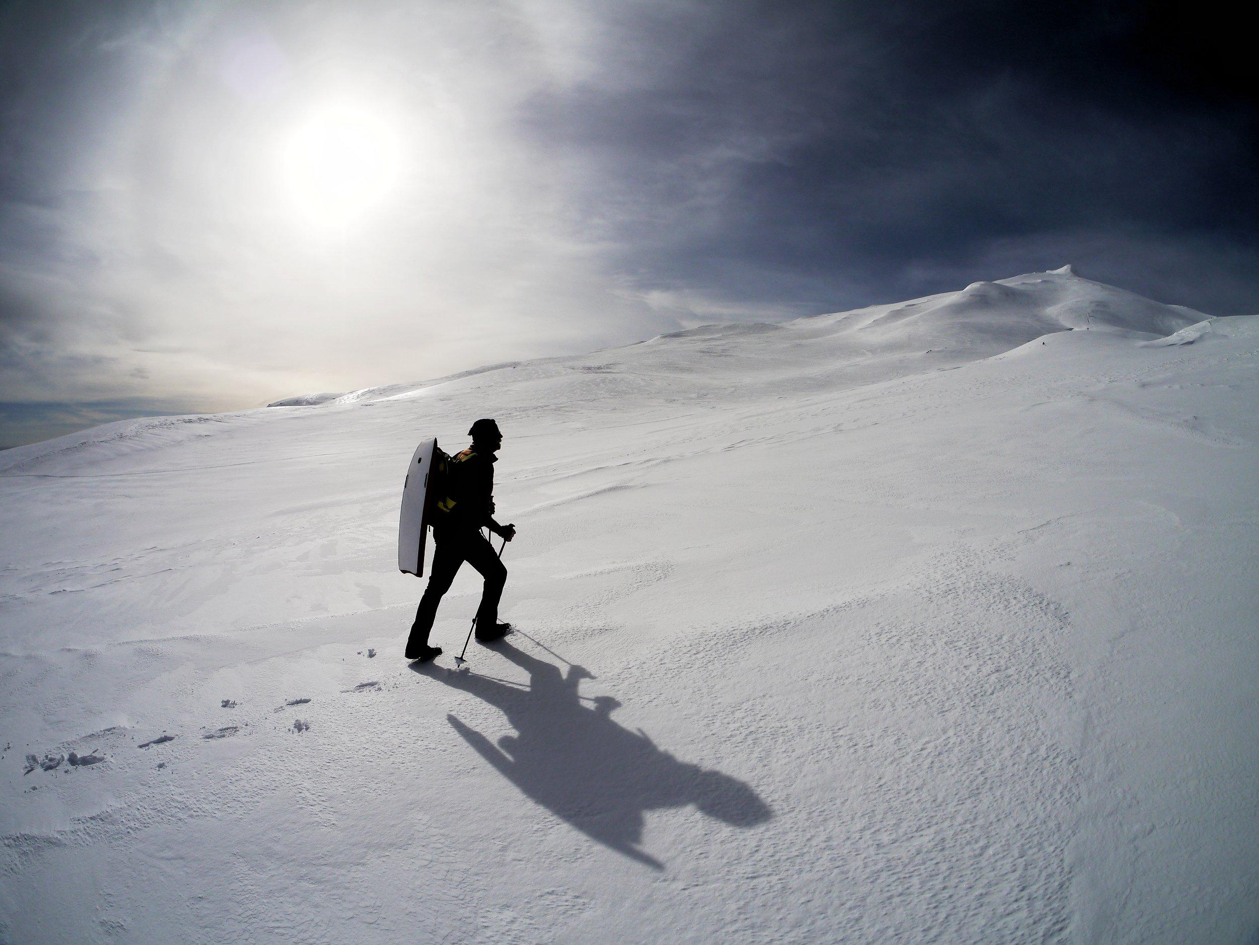 hiking up snæfellsjökull